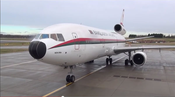Biman DC-10 farewell flight
