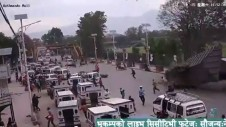 Live Footage of Nepal Earthquake from traffic camera in Kathmandu