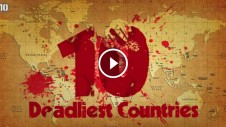 top 10 deadliest countries in the world - India, USA, Russia, Columbia