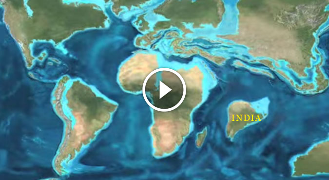 how world looked like in million years indian plate asian plate collide
