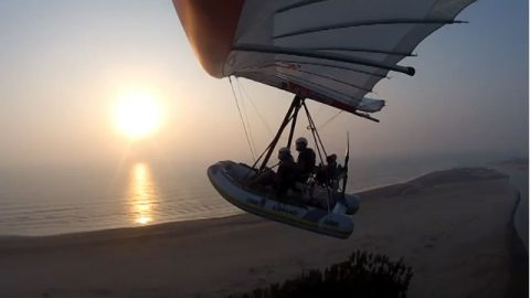 Beautiful Bangladesh in Flying Inflatable Boat