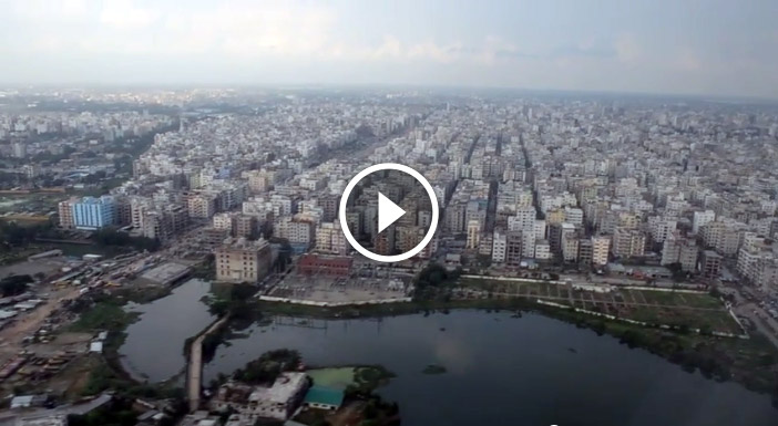 Amazing view of Dhaka city from the sky