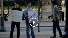 social experiment on anti islamic campaign people reaction ottawa