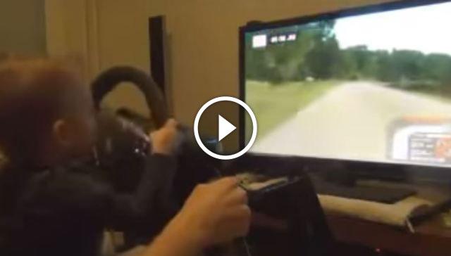 Amazing kid driving like a pro