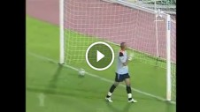 Goal keeper celebrates too early