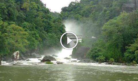 pangthumai waterfall, borehill india, near dawki and bisanakandi bichhanakandi
