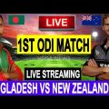 Live Score: New Zealand Vs Bangladesh 1st ODI 2019 I  live Streaming  I  BAN Vs NZ Live Match