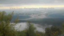 Travel Mehgalaya, India — View of sylhet,  Bangladesh from Meghalaya Hiltop