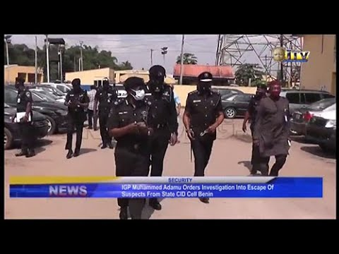 IGP orders investigation into escape of suspects from State CID cell Benin