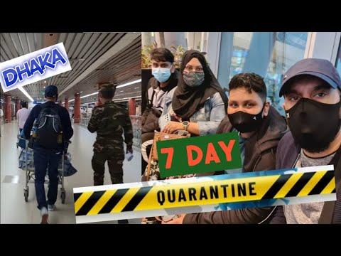 London to Bangladesh Dhaka Airport 🛩  7-Day Hotel Quarantine Feb 2021  Etihad Airlines Sylheti Vlog