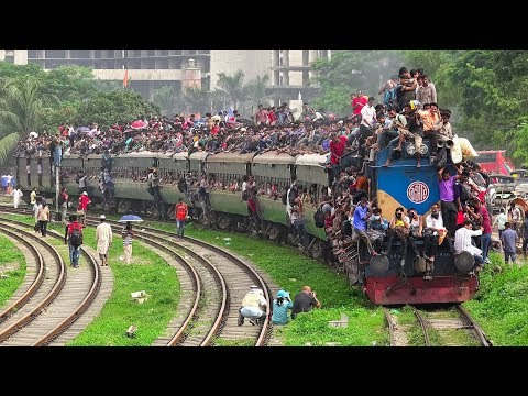 Most Packed Eid Festival Special Train of Bangladesh Railway