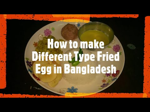 How to make Different Type Fried Egg  in Bangladesh with Bangla music.ডিম ভাজা ।